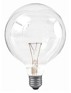 11060 Лампа накаливания 230V 60W Е27 Шар (D-125mm, H-170mm) прозрачный 110.60 Globe 60W E27 169mm 120mm Clear Paulmann