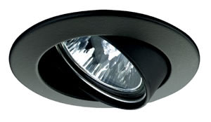 Premium line recessed light, 51 mm Black, Swivelling