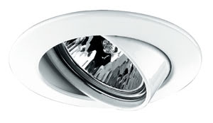 Premium line recessed light, 51 mm White, Swivelling