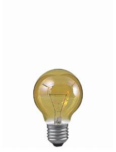 19347 Лампа накаливания 230V 40W Е27 Шар (D-60mm, H-86mm) золото 193.47 Miniglobe 40W E27 86mm 60mm Gold Paulmann