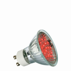 28007 Лампа рефлекторная светодиодная LED, красный 1W GU 10 Reflector lamps for directed light in spotlights, spots and downlights 280.07 LED reflector lamp 1 W GU10, red 230 V Paulmann