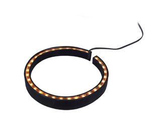 Plant LED 470mm 2W Amber, Synthetics-bla ck