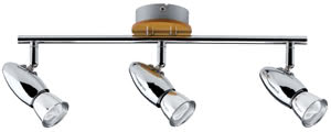 60087 600.87 Spotlight, energy-saving bulb, 3x8W Rolim, 230V, GU10, Chrome Paulmann