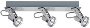 66300 Светильник настенно-потолочный Dean 3x50W GU5,3 230/12V никель лощеный (транс 150VA) 663.00 Spotlights Dean beam 3x50W GU5,3 Nickel Satinised 230/12V 150 alu/glass Paulmann