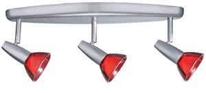 Spotlights Barelli beam 3x50W GZ10 Chrome matt/Red 230V