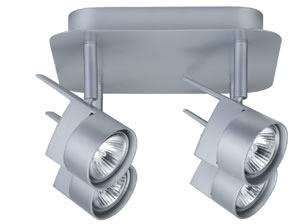 Spotlights EasyPower circle 4x50W GU5,3 Chrome matt 230/12V 2x105VA Metal