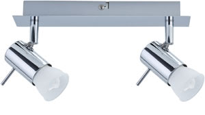 66592 Светильник настенно-потолочный Isa ESL 2x7W GU10 230V хром The 2-lamp -Isa- spotlight combines energy-efficient technology with attractive design. The product includes a lamp, ESL glass reflector lamp 7В W GU10, on delivery and is suitable for wall and ceiling mounting. The generous light distribution is ideally suited to general purpose room illumination. 665.92 Paulmann – Buy lamps and luminaires online from the manufacturer Paulmann Lighting Paulmann