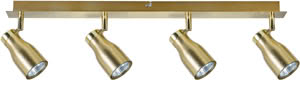 Spotlights Tinka beam 4x50W GU10 Brass nickel 230V Metal