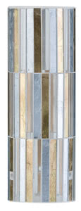 Living 2Easy Glas Fabro Gold/Silber