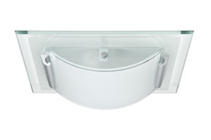 70018 Светильник настенно-потолочный Faccetto 1x9W, E27 230V Planar and convex glass forms are playfully combined in our Faccetto ceiling luminaire. Faccetto can be combined with a wide variety of furnishing styles. Its polished glass edging has a particularly festive feel. The light point of the energy-saving lamp provided adapts perfectly to the design. 700.18 Ceiling lamp, Faccetto, 2x9 W, clear, white, metal, glass Paulmann