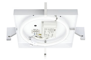 70047 Светильник настенно-потолочный Basis Square 22W T5 Alu DS - Decor as desired, technology as required: the Square basic ceiling luminaire combines energy saving with user-friendly design. The 22В W ring tube provides even illumination, and the integrated ballast for flicker-free immediate start-up. Select the design that best suits your tastes and decorating style. 700.47 DS ceiling lamp, basic square, 22 W, Brushed aluminium, white, metal Paulmann