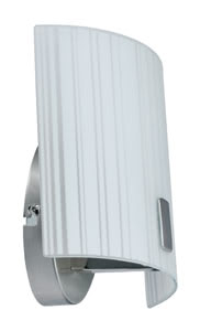 WallCeiling Fluxor WL 9W E14 170x200mm Níquel mate/Blanco 230V metal/Vidrio