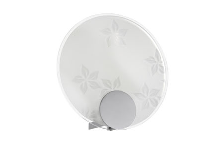70114 Плафон Disc Flower 220mm 701.14 DS wall lamp, decorative set, Disc, flower, metal, satin, glass Paulmann