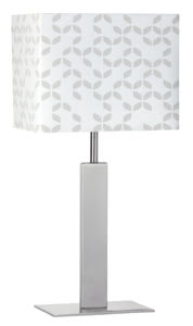 70181 Лампа настольная Pico Tischl max.40W E14 Eis-g 701.81 Table & Desk Pico table lamp max.40W E14 brushed iron white 230V metal/fabric Paulmann
