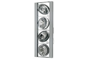 79041 Светильник потолочный Cardano 111 4x50W G53 230/12V титан (транс 210VA) The G53 low-voltage halogen reflector provides an extensive light cone, even in low-ceilinged rooms. Available with a pivoting mounting board (facilitating easy readjustment of all lights), or with a ceiling suspension fitting for selective lighting requirements. Thanks to the variable pivot rings, the bulbs can be easily readjusted even after prolonged use. 790.41 Paulmann