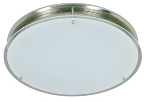 Living Conero wall lamp round 100W R7s opal 230V alu/glass
