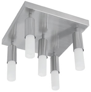 79230 Cветильник потолочный Gala Strada5 5x9W E14 230V железо шероховатое/опал 792.30 Gala Deco Pipe Strada 5 5x9W E14 brushed Iron/opal 230V alu/glass Paulmann