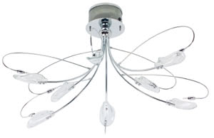 79261 Светильник подвесной Пинето 8x20W G4 прозр. 792.61 Ceiling lamp, Pineto, 8x20 W, chrome, Clear, metal, glass Paulmann