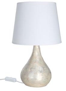 79450 Лампа настольная T&D Capiz Tischl. max.40W E14 Perlm. 794.50 Table lamp, Capiz Drop, mother of pearl, fabric Paulmann