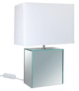 79451 Светильник T&D Mirror&Fabric max.40W E14 230V Ws 794.51 Table lamp, Mirror&Fabric, white, Mirror, fabric Paulmann