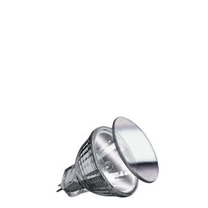80046 Лампа Security Halo+ 2x16W GU4 35mm Si Reflector lamps for directed light in spotlights, spots and downlights 800.46 Low-voltage halogen reflector lamp, security, 16 W GU4, silver 12 V Paulmann