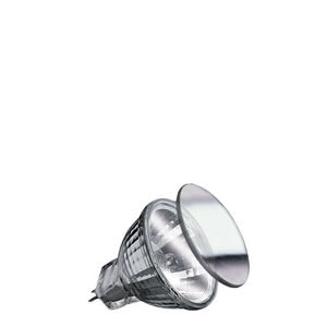 80048 Лампа галоген. Security Halo+ 2x28W GU4 35mm Si Reflector lamps for directed light in spotlights, spots and downlights 800.48 Low-voltage halogen reflector lamp, security, 28 W GU4, silver 12 V Paulmann