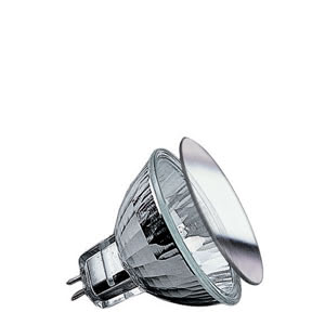 Low-voltage halogen reflector lamp, security 40 W GU5.3, silver 12 V