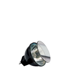 82232 Гал. рефлект. лампа с защ.стеклом черн., GU4 35W Akzent