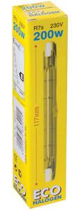 83021 Галогенная палочка прозрачная, TIP-Эко, R7s 200W 830.21 ECO halogen double base 200W R7s 230V 117mm clear Paulmann