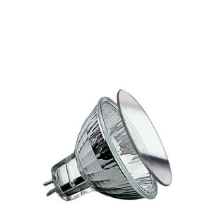 Security halogen reflector front glass 20W GU5,3 12V 51mm Silver