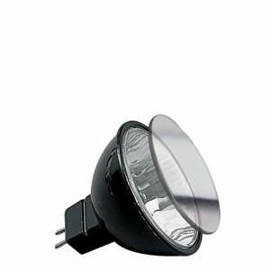 83254 Гал. Акцент рефлектор. лампа с защ.стеклом черная GU5,3 50W Akzent