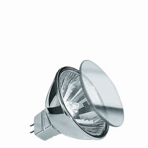 83263 Лампа галогенная 12V 35W GU5,3 38°FMW MR16 Deco-Akzent (D-51mm, H-45mm) (4000h) хром Deco-Akzent The grafted surfaces of Deko-Accent halogen bulbs add colorful touches to your light installations. Also, the bulbs can be adapted to the colors and surfaces of your existing lighting fixtures - an additional design aspect to your home. 832.63 Reflector lamp Deko Akzent front glass FMW 38° 35W GU5,3 12V 51mm Full Chromee Paulmann