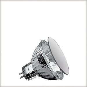 "83317 Лампа галоген.KLS Mattglas 20W GU5,3 12V 51mm Matt Satin  Halogen bulbs guarantee bright light - too bright for some of us. That""s why there are specially frosted halogen bulbs. The grafted surface ensures an even illumination without shadows. The light is much less glaring than regular halogen bulbs. 833.17 Low-voltage halogen reflector disc, satin, 20 W GU5.3 Paulmann"