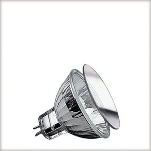 "83318 Лампа KLS Mattglas 38° 50W GU5,3 12V 51mm Satin  Halogen bulbs guarantee bright light - too bright for some of us. That""s why there are specially frosted halogen bulbs. The grafted surface ensures an even illumination without shadows. The light is much less glaring than regular halogen bulbs. 833.18 Low-voltage halogen reflector disc, satin, 50 W GU5.3 Paulmann"