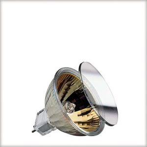 High-voltage halogen reflector lamp, cold light, 10 W GU5.3, silver