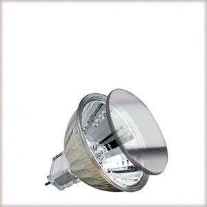 83356 Лампа акцент рефлектор. с защ.стеклом GU5,3 50W Reflector lamps for directed light in spotlights, spots and downlights 833.56 Low-voltage halogen reflector lamp, cold light, 50 W GU5.3, silver 12 V Paulmann