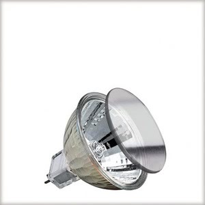 High-voltage halogen reflector lamp, cold light, 35 W GU5.3, silver