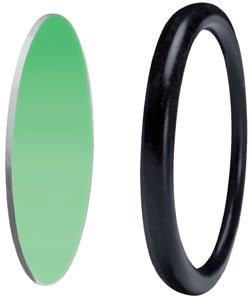 Disco disk decorative ring 51mm Green