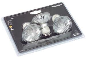 Halogen reflector lamp 3x35W GU10 230V 51mm Silver