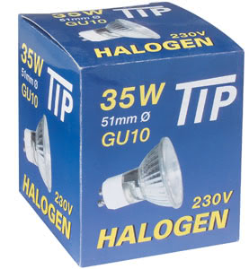 83636 Лампа галогенная 230V 35W GU10 35°flood Tip (D-51mm, H-52mm) (1500h) хром 836.36 TIP halogen reflector 35W GU10 230V 51mm chrome Paulmann