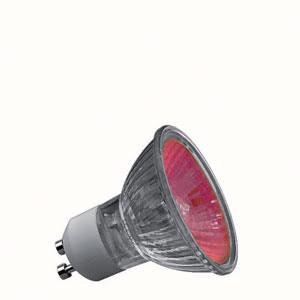 83645 Лампа Truecolor 50W GU10 230V 51mm, красный 836.45 High-voltage halogen reflector lamp, true colour, 50 W GU10, red Paulmann