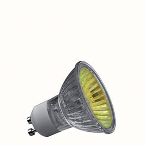 83646 Гал. рефлект. лампа, желтая, GU10, 50W 836.46 High-voltage halogen reflector lamp, true colour, 50 W GU10, yellow Paulmann