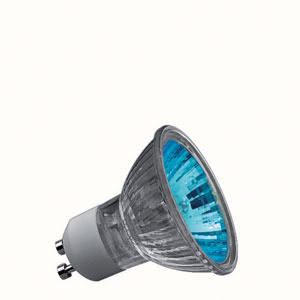83648 Лампа Truecolor 50W GU10 230V 51mm , синий Reflector lamps for directed light in spotlights, spots and downlights 836.48 High-voltage halogen reflector lamp, true colour 50 W GU10, blue 230 V Paulmann