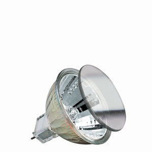 83822 Лампа галогенная 12V 10W GU5,3 38* MR16 (D-51mm, H-45mm) (4000h) серебро 838.22 SB- hal. Kaltlichtspiegel 10W flood 12V 38°, 51mm GU5,3, mit Scheibe Paulmann