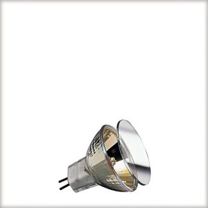 83832 Halogen KLS 2x20W GU4 12V 35mm Gold Gold  When comfort is desired candles are lit - or Paulmann Gold light is chosen. Thanks to specially grafted glass surfaces, this halogen bulb creates a warm, relaxed light atmosphere, without wax drippings. 838.32 High-voltage halogen reflector lamp, cold light, 20 W GU4 gold Paulmann