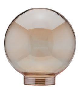 87532 Glas Globe 80 Gold 875.32 Glass ESL, Globe 80, Gold Paulmann