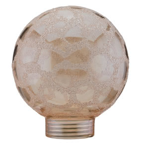 87558 Плафон шар 60 Minihalogen Goldkrokoeis Round and opulent in shape. The ideal lamp for pendants and other ceiling luminaires. 875.58 Glass mini-halogen, Globe 60 Crocoisite, gold Paulmann