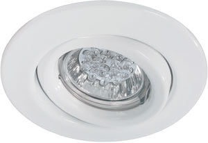 Quality line recessed light set, 1 W LED White, Swivelling, 1 pc. set