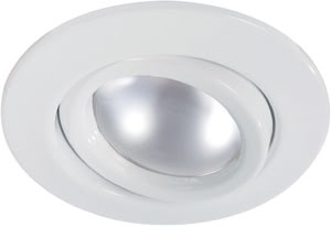 Quality recessed light set R50 swiveling 3x60W 240V E14 110mm White sheet steel