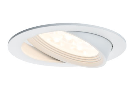 92602 Светильник Albino schw LED 1x7,2W, белый Elegant material – high-quality finish. The individually swivelling LED recessed luminaires in the Premium Line offer efficient but homelike warm white LED light and meet the most stringent standards for material quality and design. 926.02 Paulmann